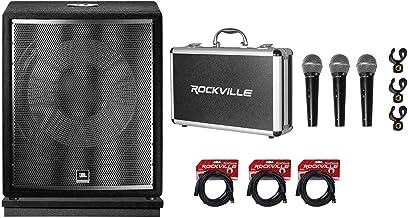 "JBL Pro JRX218S 1400 Watt 18"" Passive Subwoofer DJ PA Sub+3) Mics+Acoustic Riser"