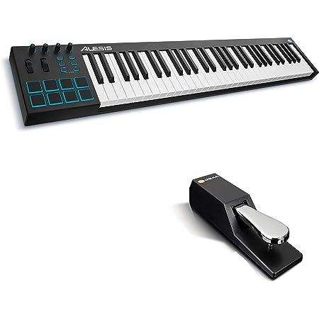 Alesis V61 + M-Audio SP-2 - Teclado controlador USB-MIDI ...