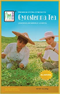 Extra Strength Premium Gynostemma Tea (Jiaogulan Tea) 100 servings (7 ounces) Premium Whole Leaves