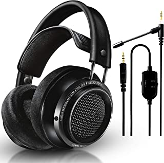 NEEGO Philips Audio Fidelio X2HR - Auriculares Abiertos para Auriculares (50 mm, Color Negro) (micrófono acoplable para Au...