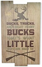 Ducks Trucks And 8 Point Bucks That'S What Little Boys Are Made Of Boy Nursery Room Wall Sign 11x18
