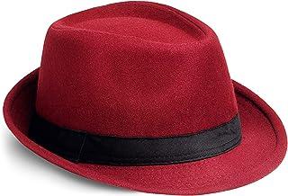 PORSYOND Panama Fedora Hat Cap Gatsby Hat 1920s Men Fedora Hat for Gatsby Costume Party