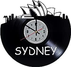 Sydney Skyline Vinyl Clock - Australia Art Handmade Home Room Decor Made of Vinyl Record - Original Gift for Any Occasion