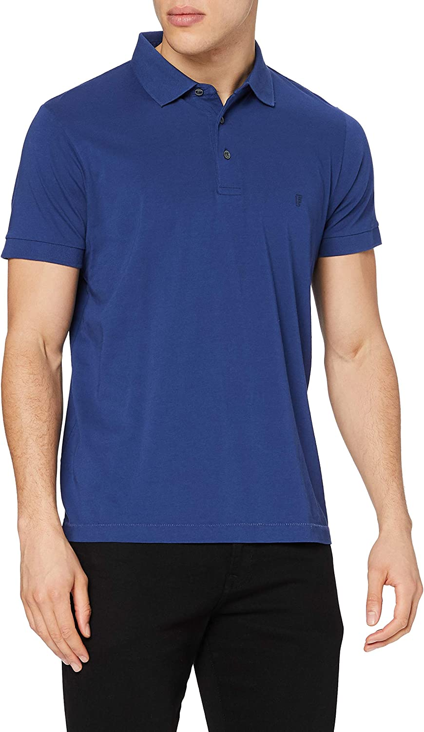 French Connection Classic Jersey Men's Polo Shirt, French Blue