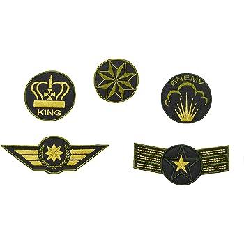 Pack de parches bordados termoadhesivos. Diseñados y fabricados en España. Diseño Army.: Amazon.es: Ropa y accesorios