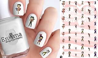 Betty Boop Patriotic Militaria (Clear Water-Slide Nail Decals)