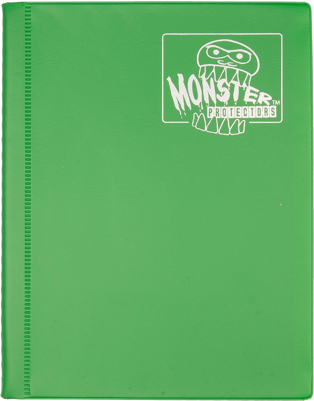Monster Binder - 4 Pocket Trading Card Album - Matte Green (Anti-theft Pockets Hold 160+ Yugioh, Pokemon, Magic the Gathering Cards)