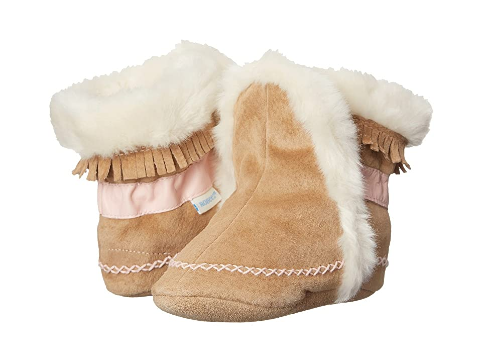 Robeez Fab Folk Bootie (Infant/Todder) (Taupe) Girls Shoes