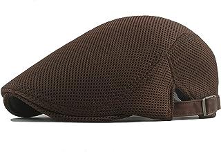 6fd5264c773ef BABEYOND Men s Mesh Flat Cap Breathable Summer Newsboy Hat Beret Cabbie Ivy  Hat Gatsby Newsboy Hat