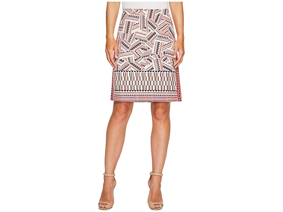 NIC+ZOE Globe Trotter Skirt (Multi) Women