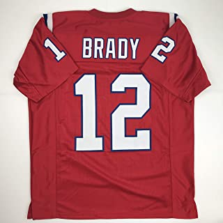 Unsigned Tom Brady New England Red Custom Stitched Football Jersey Size XL New No Brands/Logos