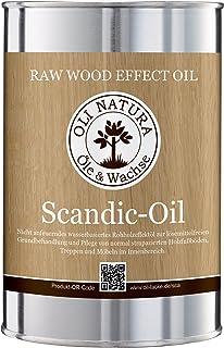 OLI-NATURA Scandic-Oil, nicht anfeuerndes, invisible Holz-Öl für Parkett, Möbel, Treppen, 1 Liter, Farbe: Natur-Effekt
