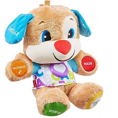 Fisher-Price Puppy Eveil Progressif jouet bébé, peluche interactive, plus de 75 chansons et 3 niveaux d'apprentissage, version française, 6 mois et plus, FPM44