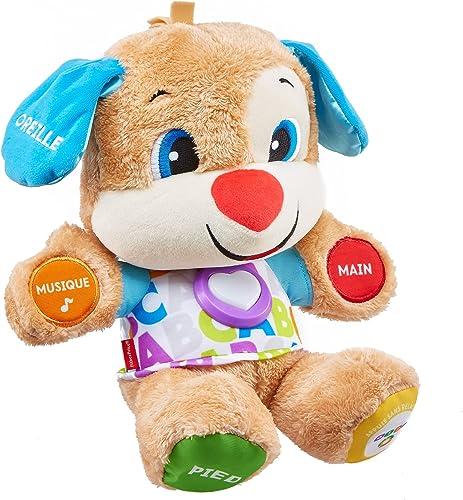 Fisher-Price Puppy Eveil Progressif jouet bébé, peluche interactive, plus de 75 chansons et 3 niveaux d'apprentissage...
