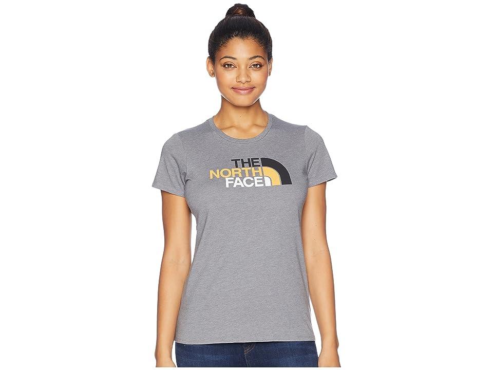 The North Face Short Sleeve 1/2 Dome Tee (TNF Medium Grey Heather/TNF Black Multi) Women