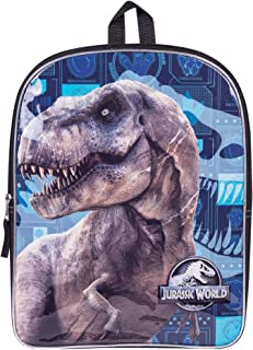 Character Backpacks For School, Summer Camp, Travel and Outdoors With Adjustable, Padded Back Straps (Jurassic World, 15