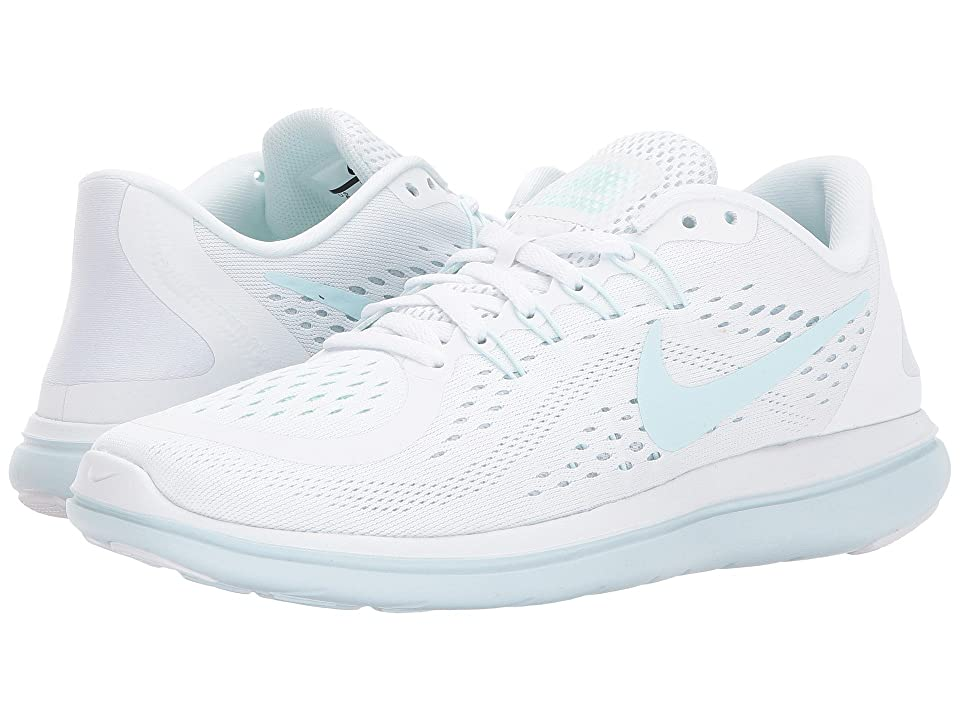 Nike Flex RN 2017 (White/Glacier Blue/Blue Tint/Mint Foam) Women