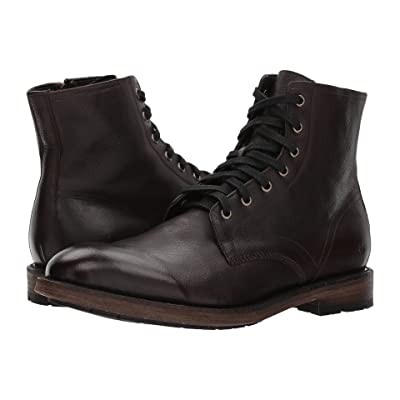 Frye Bowery Lace-Up (Dark Brown Buffalo Leather) Men