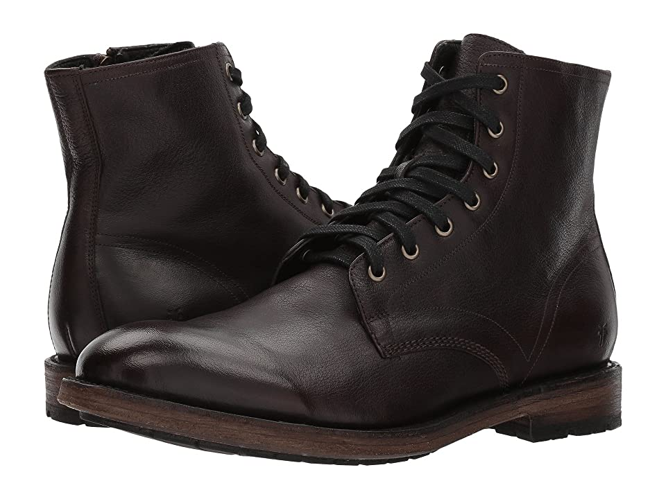 Frye Bowery Lace-Up (Dark Brown Buffalo Leather) Men