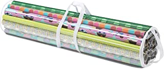 Whitmor Gift Wrap Organizer 41 Inch Clear, White