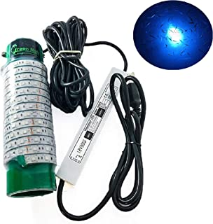 Green Blob Outdoors New Fishing Light (Green, Blue, White, or Multi), Underwater, w/ 30ft Cord, LED, Fish Attractor, Crappie, Snook, Bass, Catfish (7,500 3-Prong Plug, Blue)