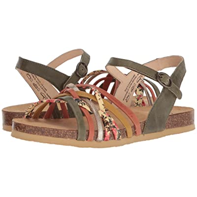 Think! Shik Quarter Strap Sandal 82596 (Olive/Kombi) Women