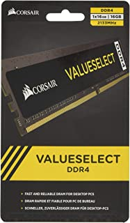 Corsair CMV16GX4M1A2133C15 Value 16 GB (1 x 16 GB) DDR4 2133 MHz CL15 Mainstream skrivbordsminne modul – svart