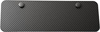 LFPartS Blank Carbon Fiber look Stainless Steel License Plate Half Size