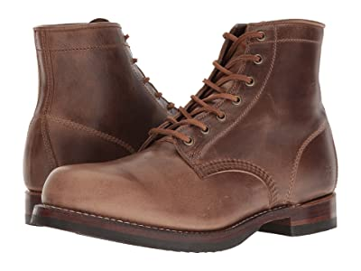 Frye John Addison Lace-Up (Tan Smooth Pull-Up Leather) Men