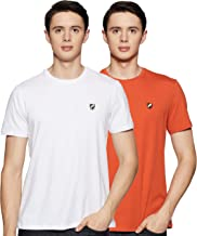 Amazon Brand - House & Shields Men's Solid Slim fit T-Shirt (Combo Pack of 2)