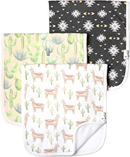 """Baby Burp Cloth Large 21''x10'' Size Premium Absorbent Triple Layer 3-Pack Gift Set """"Cusco"""" by Copper Pearl"""