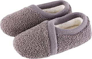 Women`s Elastic Fleece House Shoes Comfy Fuzzy Slippers with Memory Foam Insole