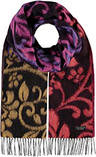 Filigree Scroll Floral Scarf - Oversized Cashmink Woven Scarf for Women
