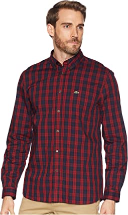 Long Sleeve Regular Fit Plaid Button Down