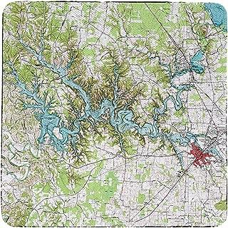 Betsy Drake Tims Ford Lake, TN Nautical Map Coaster Set of 4