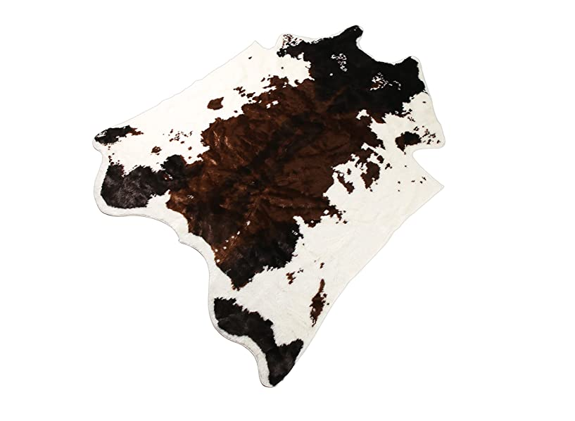 荒廃するどうやって用量Townssilk アニマル柄 フェイクファー カーペット 家庭用ラグカーペット 乳牛