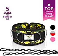 Premium Weight Lifting Belts by H.G.T - Hip Squat Dip Belt, Weightlifting, Mobility Belt - 7 D-Rings, Chain, 5 Sizes for Men, Women - Cable Machine, Resistance Bands Attachment