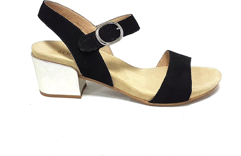 BENVADO Damen Sandalen Sandalen Mehrfarbig schwarz Platino  verkaufen sich wie warme Semmeln