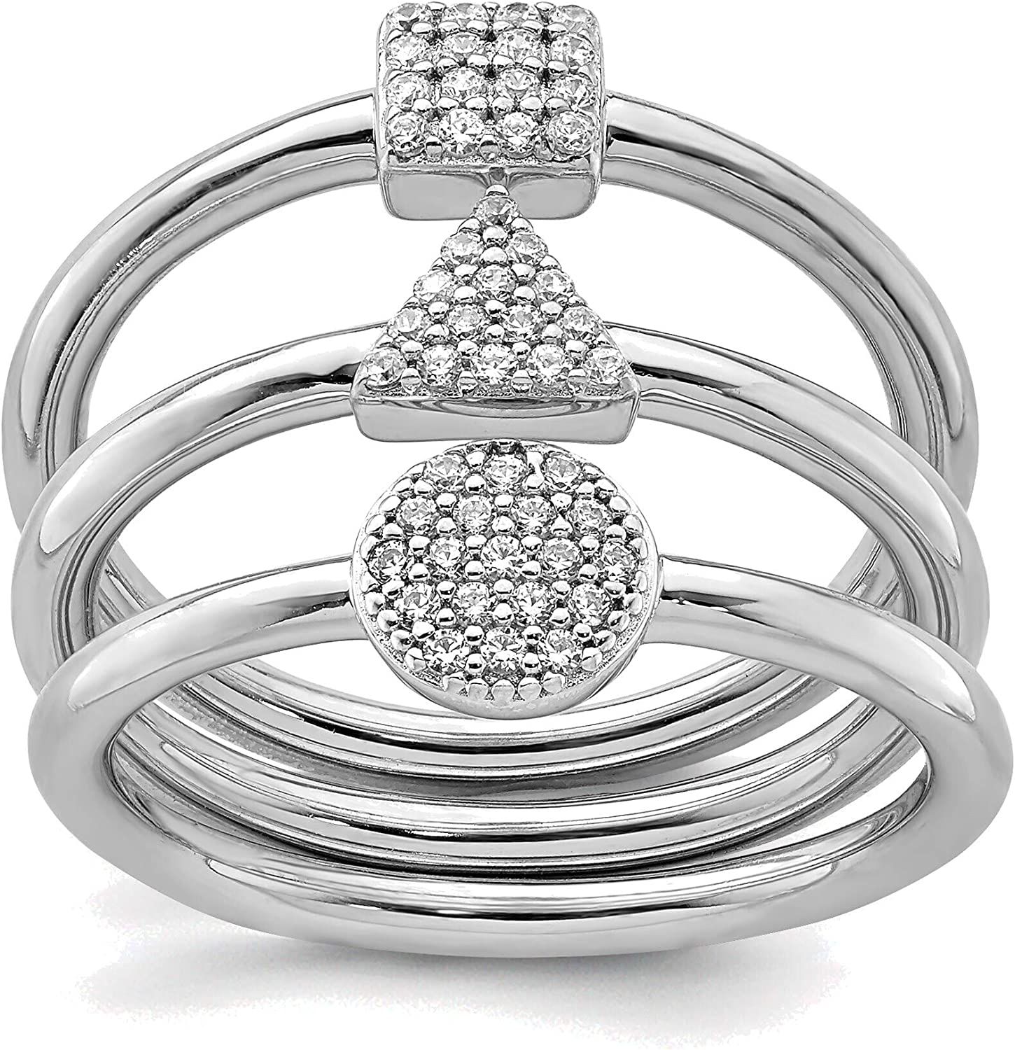discount Bonyak Jewelry Solid Oklahoma City Mall Sterling Square Rhodium-Plated Round Silver