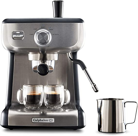 Calphalon BVCLECMP1 Temp iQ Espresso Machine with Steam Wand
