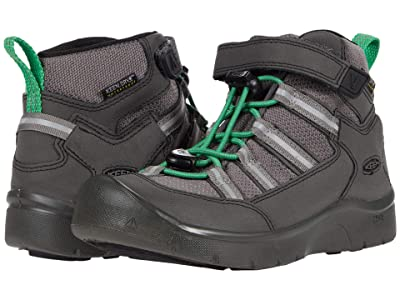 KEEN Kids Hikeport 2 Mid Strap WP (Toddler/Little Kid) (Black/Irish Green) Boy