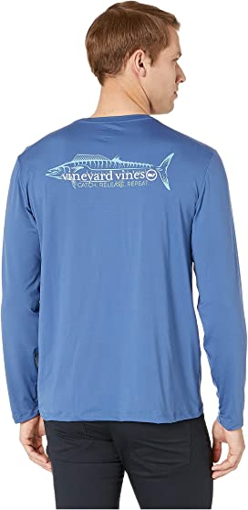 0ce7a3d4 Vineyard Vines Long Sleeve Performance Edgartown Hoodie T-Shirt at ...