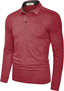 Fresca Mens Polo Shirts Dry Fit Performance Casual Athletic Stretch Glof T Shirts