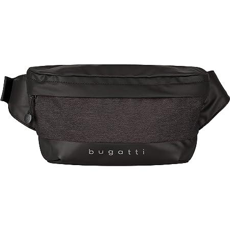 Bugatti Universum Riñonera, Riñoneras Hombre Mujer para Deportes, Viajes y Cotidiano - Negro