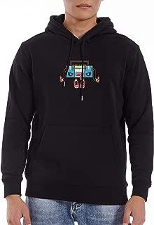 Five Four Men's Pullover Hooded Sweatshirt Radio Graphic
