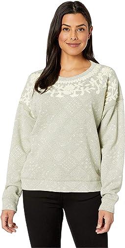 Chenille Print Pullover Sweatshirt