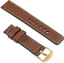 moVear uStrap C1 Skórzany Pasek Kompatibilny z Apple Watch 6/SE/5/4/3/2/1 (40/38mm) z Adapterem, Eleganckie Przeszycie, Sk...