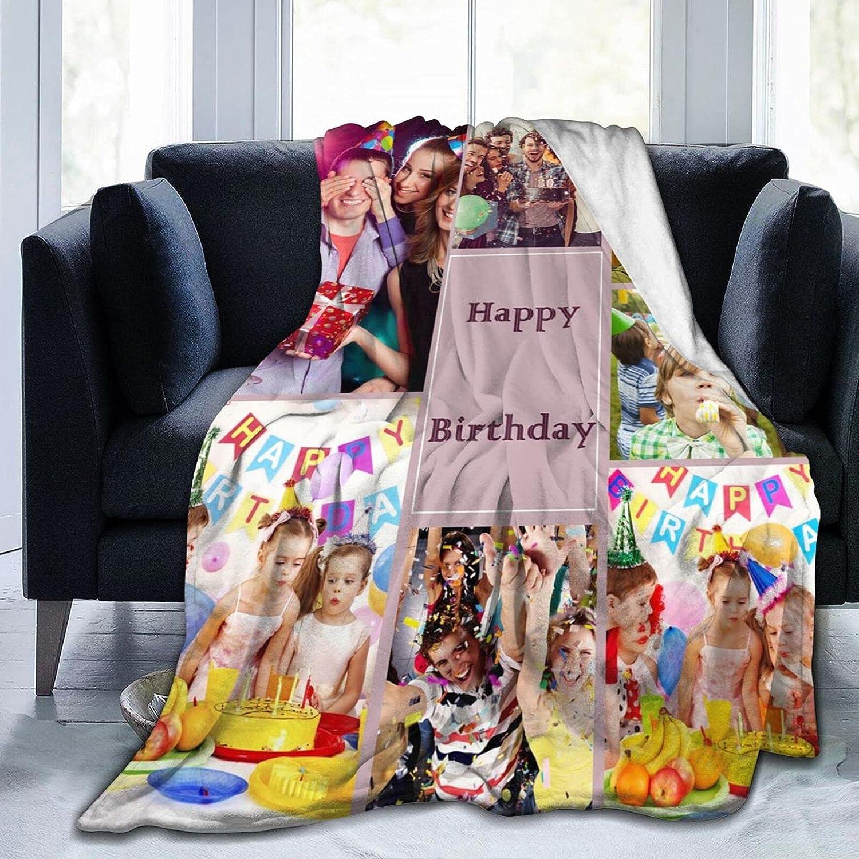ECKOI Custom Blanket with Photo Text Cust Bedding 誕生日 お祝い Blankets Throw 新作