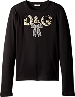 Dolce & Gabbana Kids - City Logo Long Sleeve T-Shirt (Big Kids)