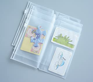 Funcoo Set of 4 Zipper Pocket Refill Pack Plastic Clear Inserts Pouch for Standard Size Travelers Notebook (Personal Size)
